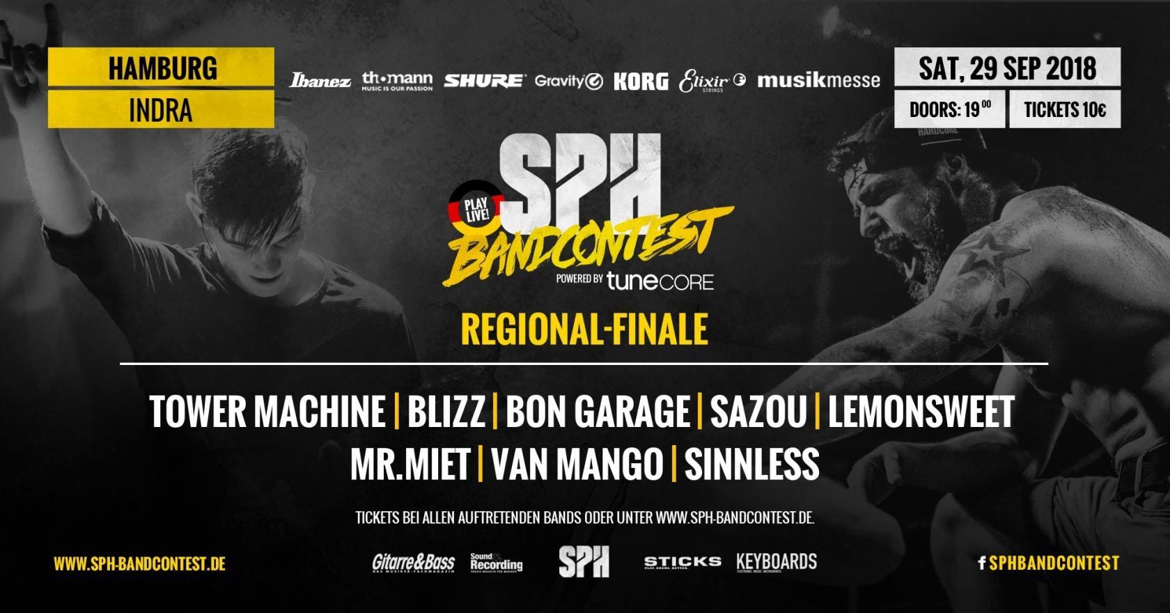 SPH Bandcontest Regionalfinale / Hamburg @ Indra Club 64 | Hamburg | Hamburg | Deutschland