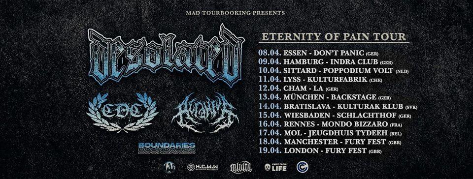 VERSCHOBEN WEITERE INFOS FOLGEN Crewlife Booking Hamburg presents: Eternity of PAIN TOUR 2020 + Supports